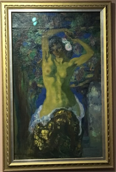 Hermen Anglada Camarasa, Nude Under the Vine, c.1909-1910