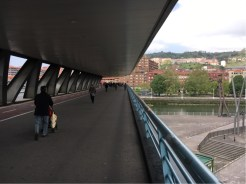 Walking and riding space across the Euskalduna Zubia