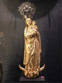 Saville Cathedral - a beautiful statue of Mary in the Treasury collection