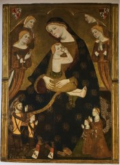 Jaime Serra, The Virgin of Tobed with the Donors Henry II of Castile, his Wife Juana Manuel, and two of their Children, 1359-62.