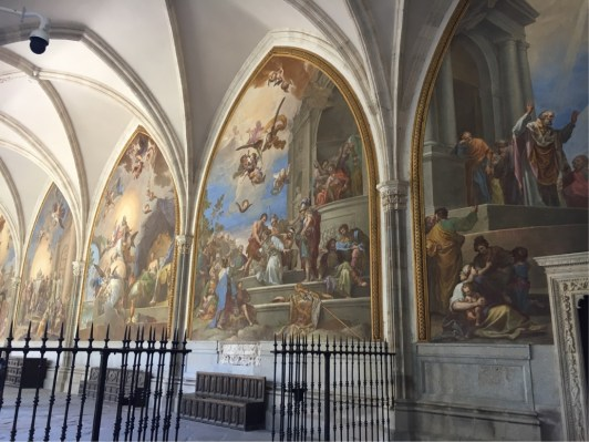 Frescoes in the Cathedral Cloisters