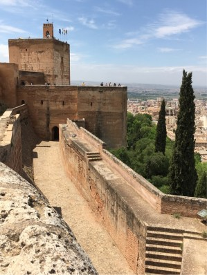 The Alcazar (Fort) showing the inner two of the defensive walls around the Alhambra