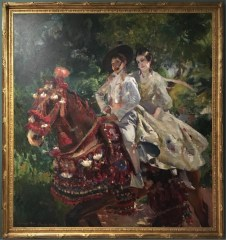 Joaquin Sorolla Bastida, On Sidesaddle (Sorolla's children), 1906