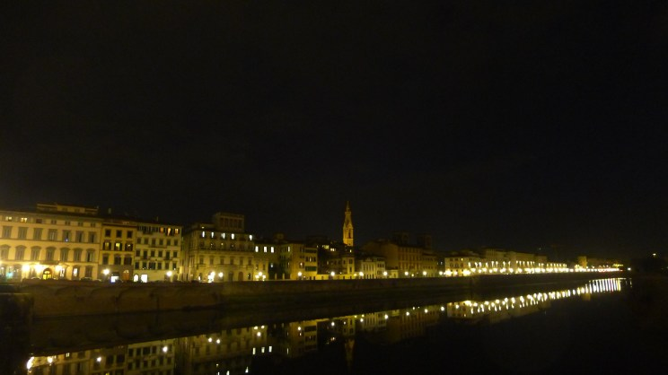 The Arno was still
