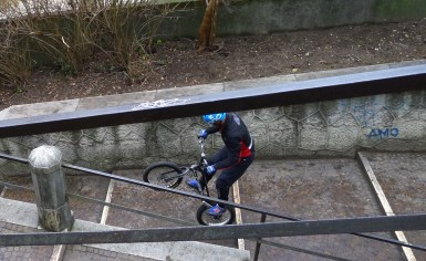 Crazy bike man