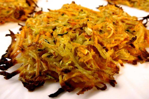 Baked Potato, Sweet Potato, and Zucchini Latkes