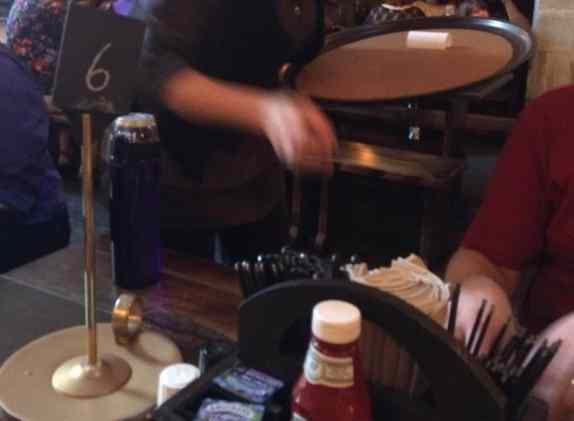 Candlestick at Leaky Cauldron at Diagon Alley Universal Studios