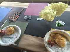 Pancakes with Huck Finn at Performance Network Theatre Table Spread
