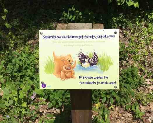 Matthaei Botanical Garden - Children's Garden - Trail Sign