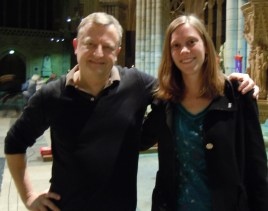 Anna with fellow composer Patrick Hawes