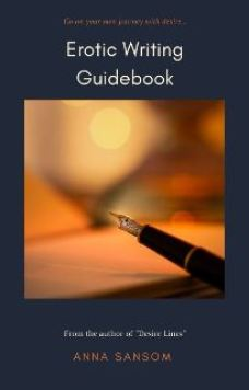 Erotic Writing Guidebook cover showing a fountain pen and orange background