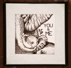 Elephant (mother and baby) custom print