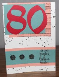 Karte 80. Geburtstag