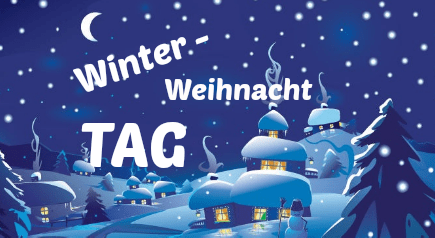 Winter Weihnachts-Tag