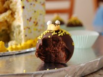 Update: One of the Bumble Bee Triple Chocolate bites I made for my son's birthday.