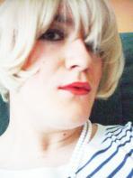 Anna Secret Poet, blonde hair stripey top