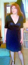 Anna Secret Poet, auburn hair wraparound dress