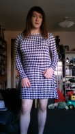 Houndtooth Skater Dress