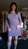 Houndtooth Skater Dress