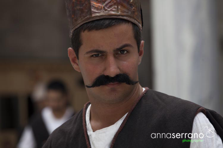 Ottoman character during a movie shooting, Istanbul