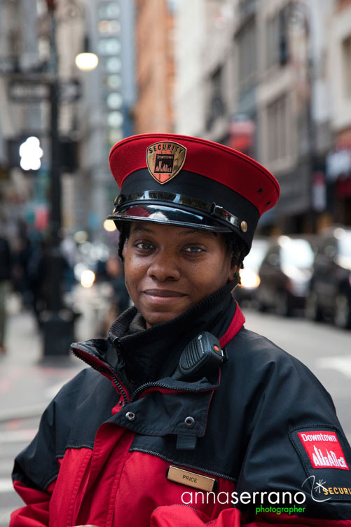NYPD police lady in Lower Manhattan