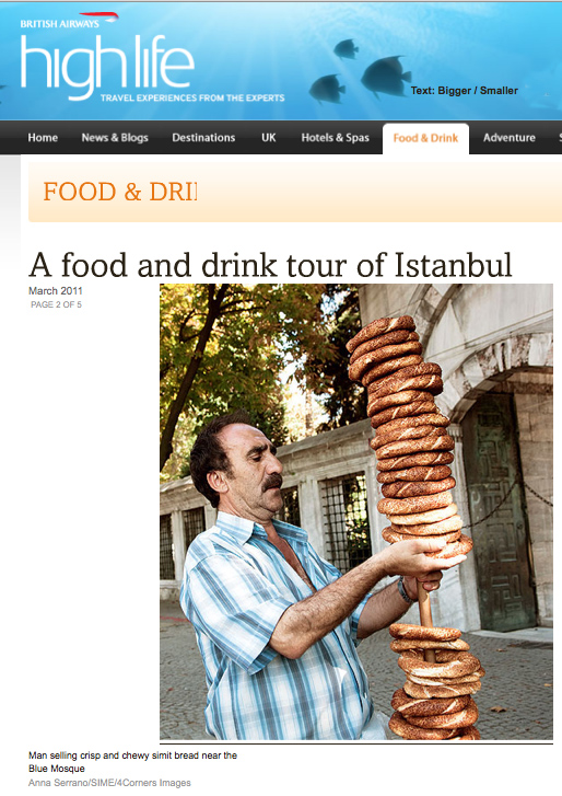 136-BRITISH AIRWAYS HIGH LIFE MAGAZINE-ISTANBUL