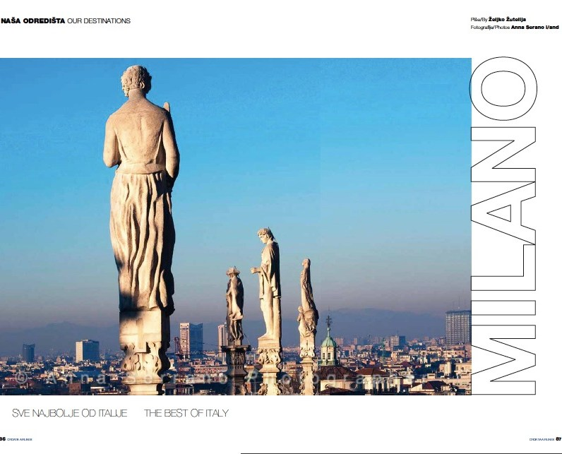137-CROATIA AIRLINES MAGAZINE-MILANO