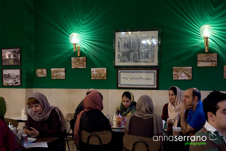 Iran, Middle East, Tehran, Cafe Naderi
