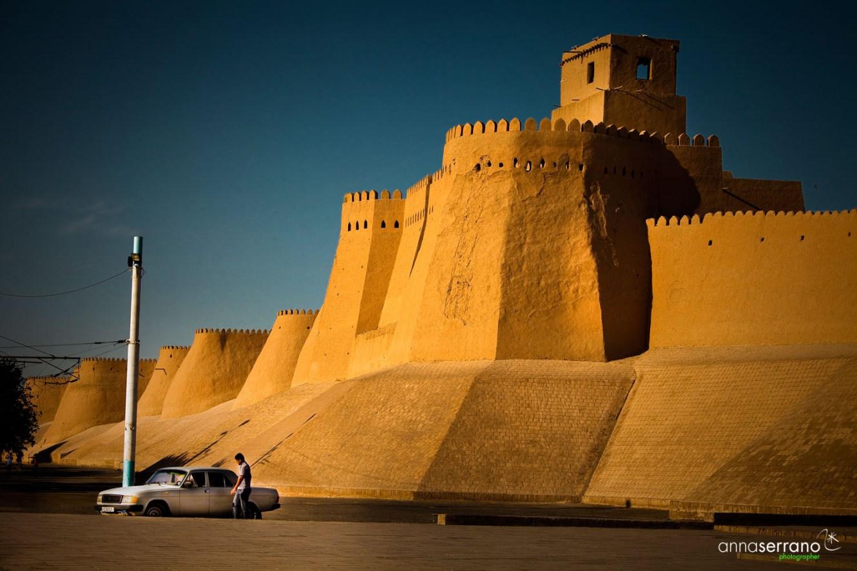 Asia, Uzbekistan, Khiva , Ata Gate