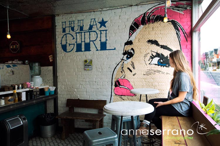 America, North America, Canada, Ontario, Toronto, Hula girl Cafe on Ossington