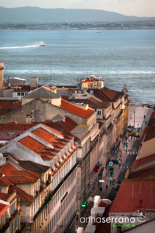 Portugal, Lisbon, Lisboa, Panoramic View from Elevador da Justa