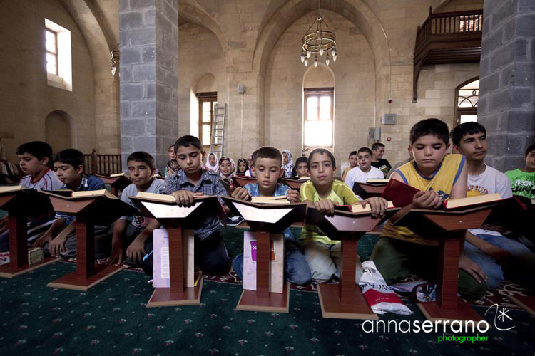 Turkey, South Eastern Anatolia, Gaziantep, The Coran School at the Tahta Mosque