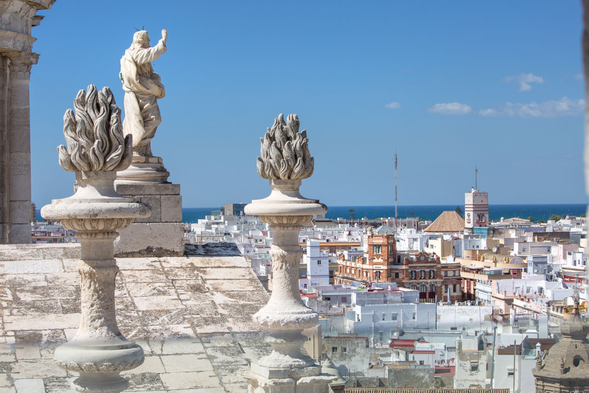 Spain, Andalusia, Cadiz, from the Cathedral tower