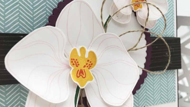 Match the Sketch 190 – Orchideenzweig Karte