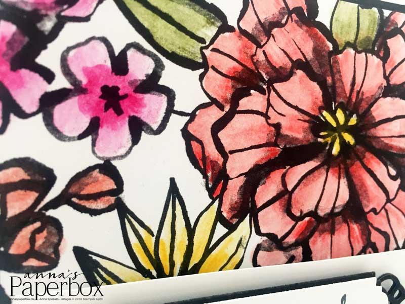 Karte Blütenfantasie mit Produkten von Stampin' Up!