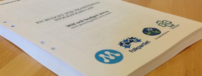 Stockholms läns landsting, budget 2014.