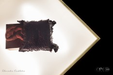 CIRCE The Black Cut 2015 @ aeaea space [port a] Bronze Sculpture by Maria Louizou | image taken by Tilemachos Kouklakis©