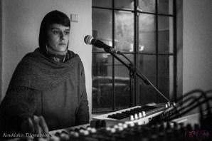 CIRCE The Black Cut 2015 @ aeaea space ~ Opening AV Gig by Jennifer Eberhardt [Dec19, 2015] | image taken by Tilemachos Kouklakis©