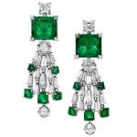 orecchini chandelier Bulgari verdi