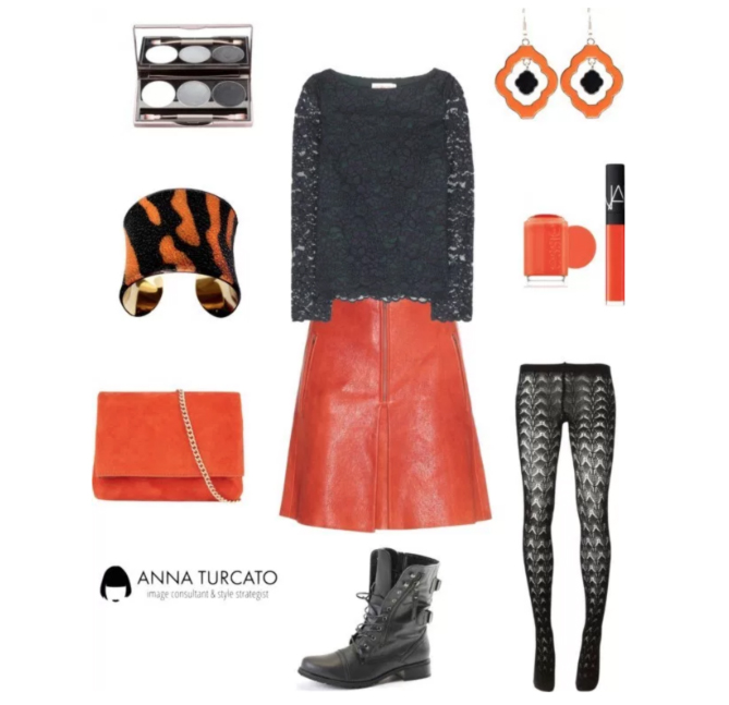 Come abbinare Cadmium Orange e Stormy Weather by annaturcato featuring a bangle cuff bracelet