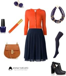 Orange and blue di annaturcato contenente beaded necklaces