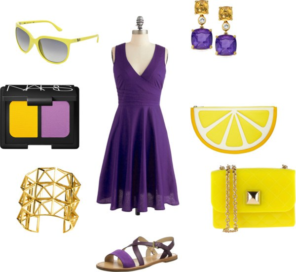 Yellow and purple di annaturcato contenente Cole Haan