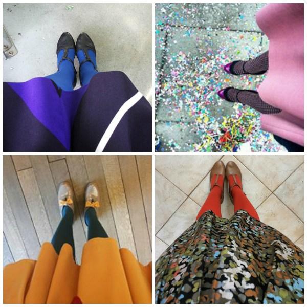 Look scarpe e calze Anna Turcato