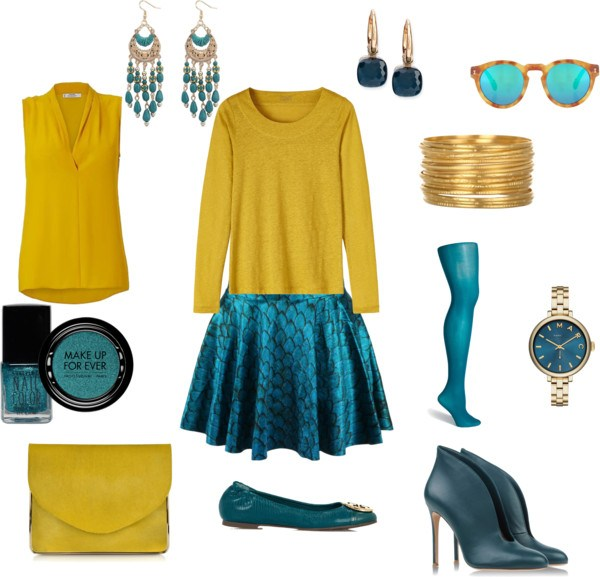 Come indossare scuba blu di annaturcato contenente ballet flats