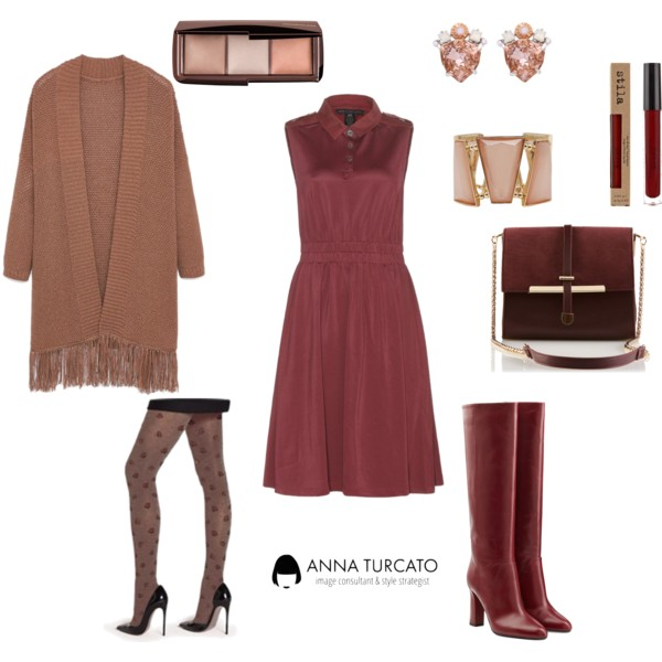Come abbinare il Marsala by annaturcato featuring a cross body purse
