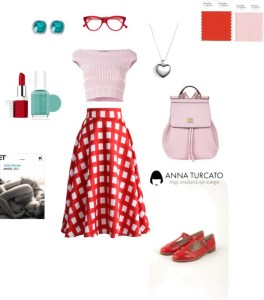 Lovely girl by annaturcato featuring a plaid skirt