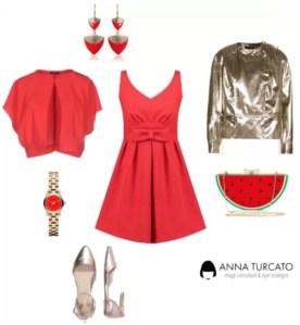The red lady di annaturcato contenente drop earrings