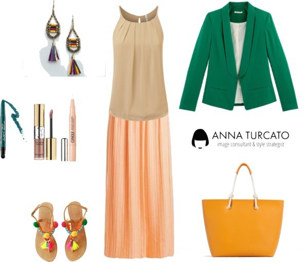 The green jacket by annaturcato featuring a blazer jacket