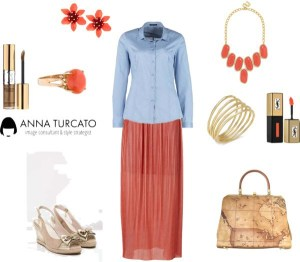The orange skirt by annaturcato featuring an orange outfit