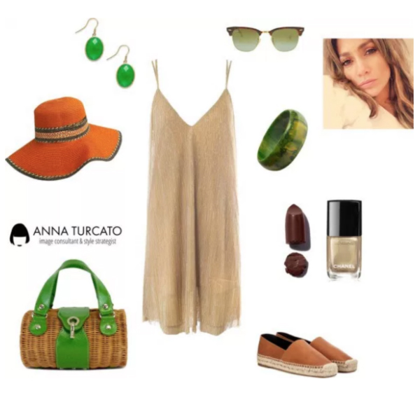 Greenery for Autumn Girl by annaturcato featuring a summer floppy hat